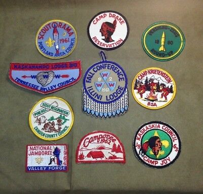 Vintage 1960s Boy Scouts BSA Patch Lot 2 Tennessee Council Illini Pershing Camp