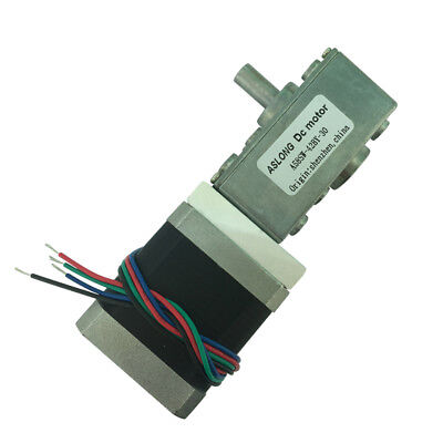 A58SW-42BY DC12-24V 1.5A 2-Phase 4-Wire Stepper Motor Worm Gear Stepping Motor