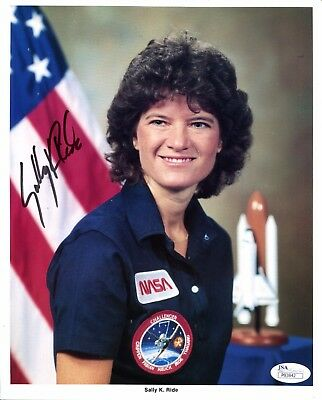 Sally K. Ride Signed Autograph Photo 8x10 NASA First Woman In Space JSA COA