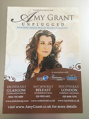Amy Grant - Unplugged - 2011 Uk Tour Flyer (Size A5)