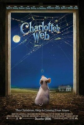 CHARLOTTES WEB MOVIE POSTER 2 Sided ORIGINAL Advance 27x40 DAKOTA FANNING
