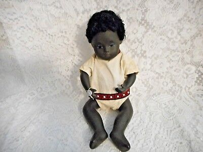 Vintage Sasha Baby Doll #509 Black Baby Excellent With Tag