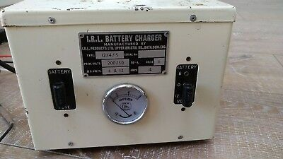 Vintage Classic Car Motorcycle Irl Battery Charger Collectors Type 12/4/s 6V 12V