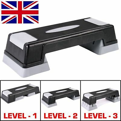 3 Level Aerobic Stepper Adjustable Yoga Step Board Gym Fitness Exercise Pilates