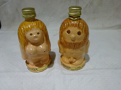 Adam and Eve collectable minature alcohol bottles