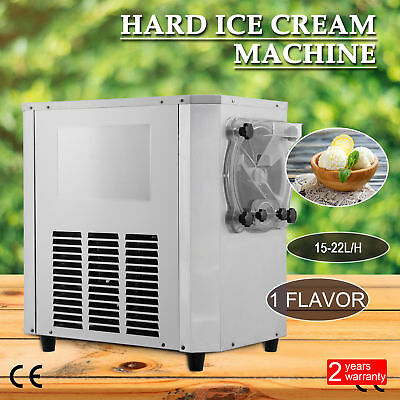 15-22L/H Commercial Frozen Hard Ice Cream Machine Maker 15-22L/H Stainless Steel