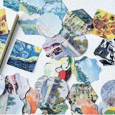 New 46Pcs/lot An Art Gallery Sticker Famous Painting Decoration DIY Diary Label