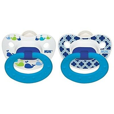 2 Pack - Nuk Orthodontic Pacifier - 18-36M Blue - 4 Total Pacifiers