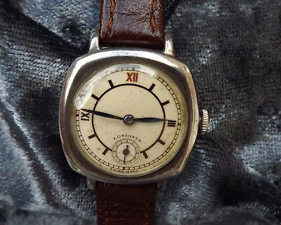 Longines  Rare  Vintage Women's  Watch  Solid Silver ( Circa 1937)  Manual  Wind