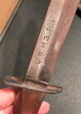 Ww2 US M3 Blade Marked Pal Trench Fighting Knife Paratroopers