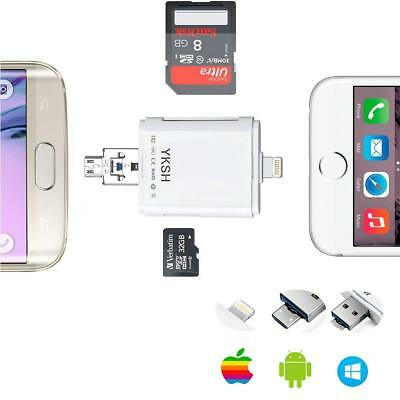 OTG USB Lightning to Micro SD Card Reader for iPhone iPad A
