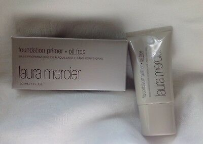 LAURA MERCIER FOUNDATION PRIMER-OIL FREE-1 Fl Oz/30ml-DELUXE TRAVEL SIZE-NEW BOX