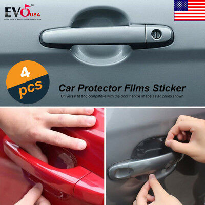 4pcs Car Door Handle Invisible Anti Scratch Protector Film Cover Guard Sticker