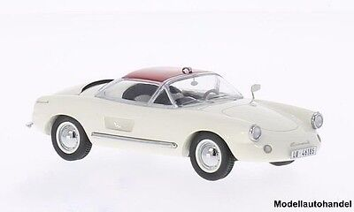 Enzmann 506 Coupe (Basis VW) weiss/rot 1957 1:43 Neo 46185