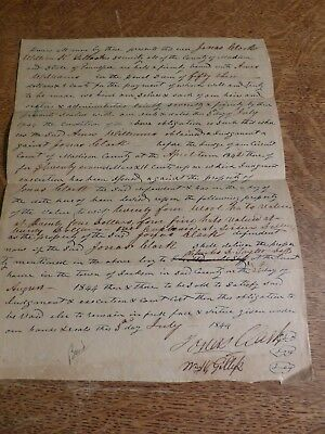 1844 Tennessee - 2 men sell hats and cupleware  to pay Bond