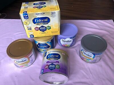 Infant Baby Formula Bundle - new Enfamil, Similac, Ready to use bottles