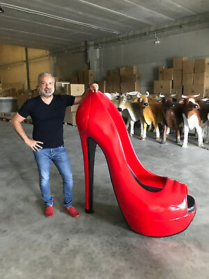 Red high-heels 1,45 meters high figure decoration giant size Zapato Tacon Rojo G