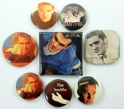 THE SMITHS AND MORRISSEY BADGES 8 x Vintage The Smiths Pin Badges