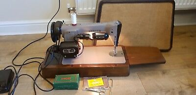 Vintage 1957 Heavy Duty Electric Singer 201K Sewing Machine +Case Manual Accesso
