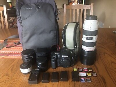Canon EOS 7D Mark II 20.2MP Digital SLR Camera and Canon 70-200 mm lens package