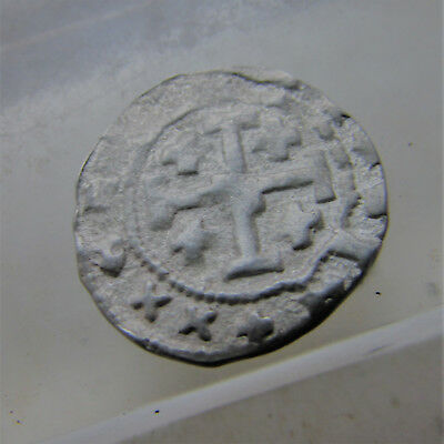 Byzantine Hammered Silver Crusaders Coin