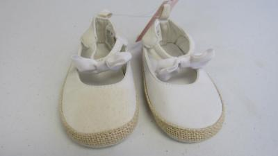 GYMBOREE Spring Dressy Collection Infant Baby Girl Crib Shoes White 4 NEW TL24