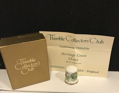Goldcrest Thimble Bone China Heritage Coast from the Collectors Club TCC T-609