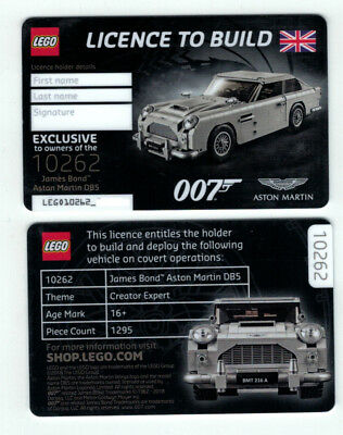 Exclusive NEW Aston Martin 007 LEGO Licence LEGO Licence To Build