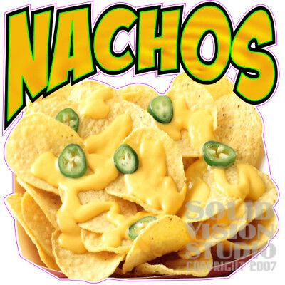 Nachos with Cheese-Chips-Peppers-Photo Concession Trailer Food Truck Sign Decal