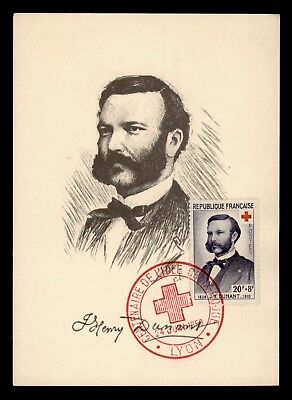 DR WHO 1959 FRANCE MAXIMUM CARD DUNANT FOUNDER OF RED CROSS  d35670