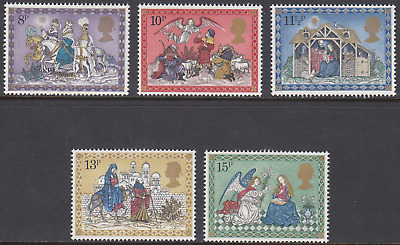 GB Stamps 1979, Christmas Nativity Scenes, MNH/UMM set of 5