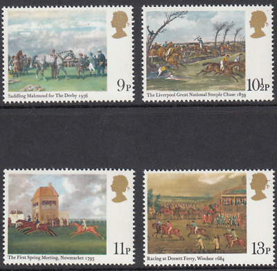 GB Stamps 1979, Horseracing Paintings, set of 4 Mint Never Hinged. SG 1087-1090