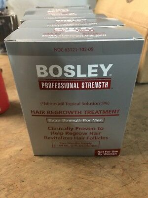 Bosley Hair Regrowth Treatment Minoxidil Solution 5% for Men (2 - 2oz  expired=
