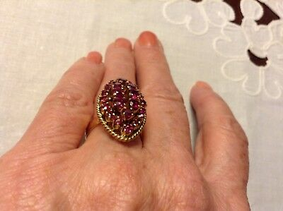 10K Yellow Gold Ruby Ring Size 5.5 Vintage Antique 5.5 Grams