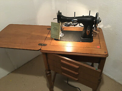 WHITE ROTARY ELECTRIC Sewing Machine Model 40 With Tablevintage Enchanting White Rotary Sewing Machine Table