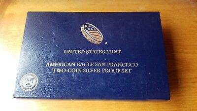 2012 American Eagle San Francisco Two-Coin Silver Proof Set with COA - US Mint