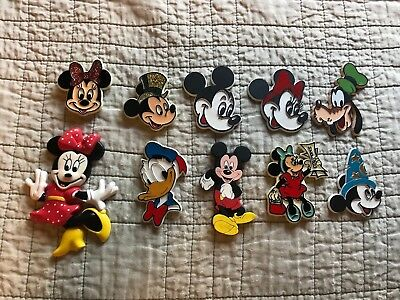 10 Vintage Disney Magnets Mickey Minnie Mouse Donald Duck