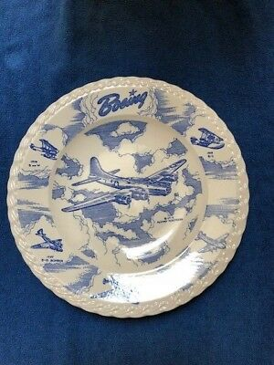Pan Am - Boeing Frederick & Nelson Dinner Plate - Airplane History + Pan Am Plan