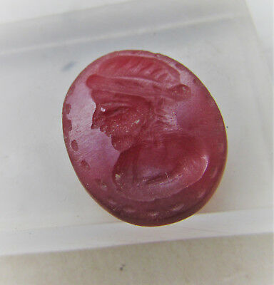 Beautiful Middle Eastern Carnelian Bead Seal With Ruler Impression