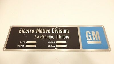 EMD GM Electro-Motive Locomotive Emblem Sign Builders Plate Plaque Train