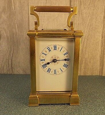 Antique French Carriage Clock. Original Case and Key. Serviced.