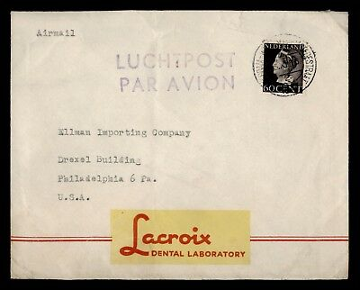 Dr Who 1946 Netherlands To Usa Air Mail C39236
