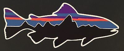 Patagonia Retro Trout Sticker Decal Fishing Hiking Camping **FREE SHIPPING**