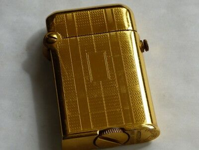 Lovely Ladies Thorens Single Claw Petrol Lighter - Gold Plated - Stunning
