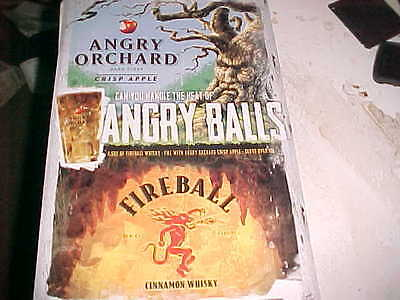 Angry Orchard Hard Cider Tin Sign Fireball Cinnamon Whiskey Crisp Apple Man Cave