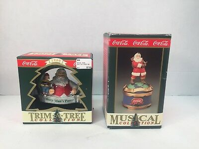 Coca Cola Travel Refreshed Ornament Musical Collection Music Box 1993 Music Box