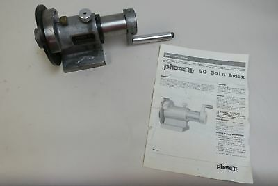 "Phase II 5C Compatible, 36 Increment, Horizontal Spin Collet Indexer 1-1/8"" M..."