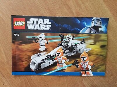 Lego Instruction Manual Anleitung 7913 Clone Trooper Battle Pack