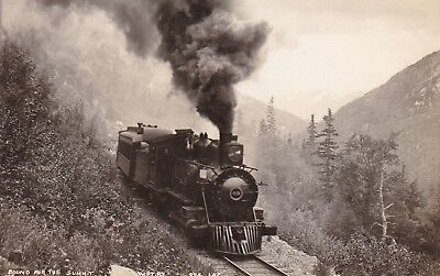 Bound for the Summit - W.P.Y. Railway - Real Photo