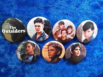 "1"" pinback button set inspired  by ""The Outsiders"" 80's"
